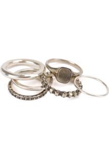 Werkstatt:München 'Eternity' 6 Rings Combination - Metálico