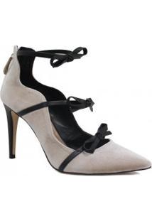 Sapato Cecconello Scarpin Laço Salto Alto