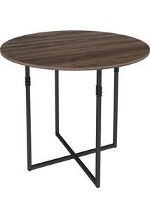 Mesa Para Sala De Jantar Em Aço Oval Liz-Brastubo - Am Negra / Preto