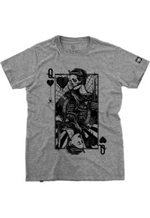 Camiseta Stoned Sad Queen Cinza