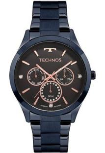 Relógio Technos Fashion Trend 6P29Ajj/4P Feminino - Feminino-Azul