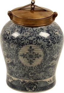Vaso Decorativo De Porcelana Com Bronze Magrebe Iv