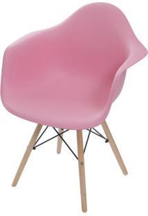 Cadeira Eames Com Braco Base Madeira Rosa - 59141 - Sun House