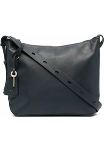 Tila March Lea Hobo Leather Shoulder Bag - Azul