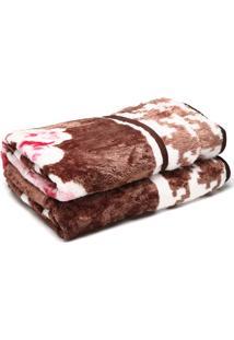 Cobertor Casal Corttex Home Design 180X220Cm Marrom