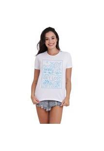 Camiseta Jay Jay Basica Get Lost Branca Dtg