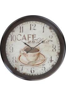 Relógio Kasa Ideia De Parede Café 62Cm - Tricae