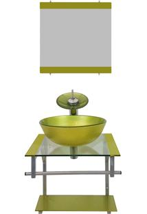 Gabinete De Vidro Para Banheiro Polônia Verde Oliva Ekasa