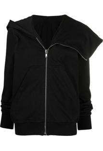 Rick Owens Drkshdw Spread-Collar Jacket - Preto