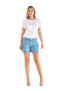 Shorts Comfort Tinturado Azul