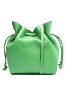 Bolsa Bucket Verde Couro Mia Média | Arezzo