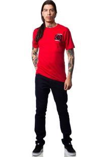Camiseta Fallen Grunge - Masculino-Vermelho