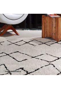 Tapete Art Geomã©Trico- Bege Claro & Preto- 200X150Cmoasis