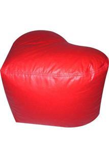 Puff Infantil Coração Alto Em Courino - Vermelho - Phoenix Puff