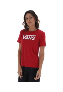Camiseta Vans Flying V Crew - Feminina - Vinho