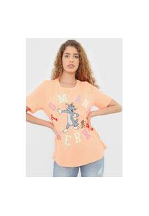 Camiseta My Favorite Thing(S) Tom E Jerry Neon Laranja
