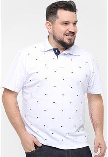 Camisa Polo Local Mini Print Coroa Masculina - Masculino