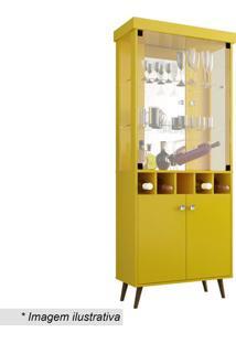 Cristaleira Monza- Amarela- 187X75X40Cm- Becharabechara