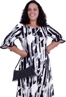 Vestido Viola Davis Plus Size Vickttoria Vick Plus Size Branco