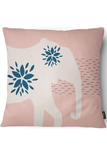 Capa Para Almofada Home Rustic Elefante 43X43Cm - Belchior - Rosa