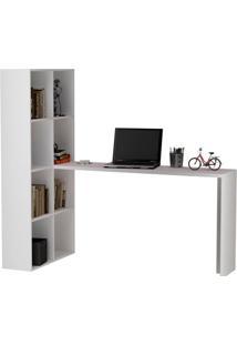 Mesa De Computador / Estante Be 38 Branca