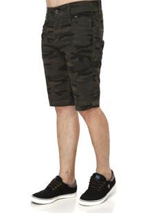 Bermuda Jeans Masculina Camuflada - Masculino