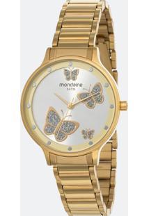 Kit Relógio Feminino Mondaine 53628Lpmvde1Kc Analógico 5Atm + Pulseira