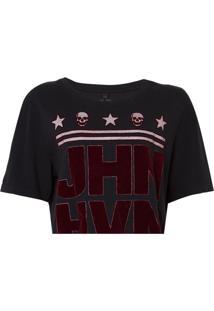 Camiseta John John Logo Feminina (Preto, Gg)