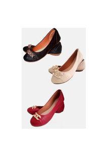 Kit 3 Pares Sapatilhas Estilo Shoes Casual Preto Xadrez