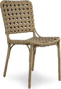 Cadeira Buca Para Área Externa Fibra Sintética Estrutura Alumínio Eco Friendly Design Scaburi