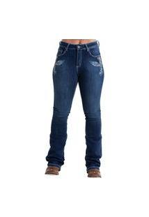 Calça West Dust Sarkozi Hippie Bootcut Jeans Escuro