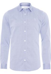 Camisa Masculina Maquinetada Trança - Cinza