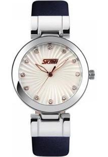 Relógio Skmei Analógico Feminino - Feminino-Azul+Prata