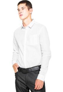Camisa Linho Calvin Klein Slim Branca