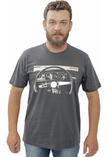 Camiseta Cheiro De Gasolina Painel Do Opala Chumbo