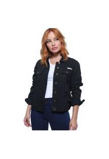 Jaqueta Jeans Feminina Color Crocker - 47652
