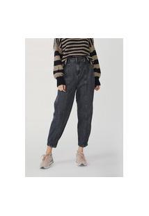 Calça Jeans Feminina Slouchy Cintura Alta