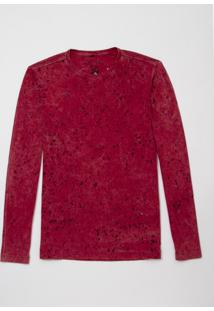 Camiseta John John Ml Basic Devore Malha Rosa Masculina (Rosa Escuro, G)