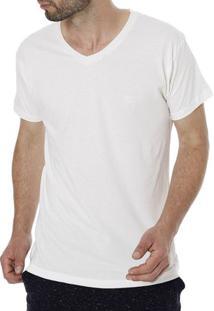 Camiseta Manga Curta Masculina Bege