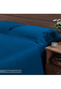 Fronha Bangkok- Azul- 70X50Cm- 270 Fiosniazitex