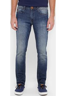 Calça Jeans Super Skinny Cavalera Stone Escura Masculina - Masculino