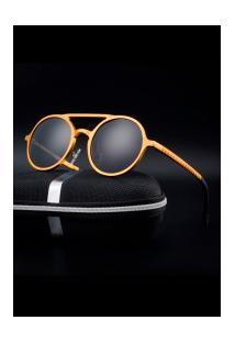 Óculos De Sol Estilo Gatsby Xy053 - Dourado E Cinza