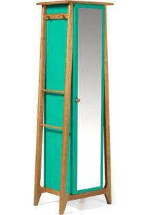 Armario Multiuso Stoka Cor Amendoa Com Verde Anis - 31606 Sun House