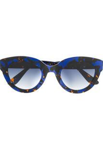 Emmanuelle Khanh Óculos De Sol Gatinho Com Lentes Coloridas - Azul