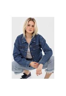 Jaqueta Jeans Dzarm Bolsos Azul