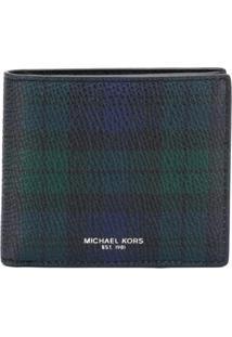 Michael Kors Carteira Grande Com Estampa Xadrez - Azul