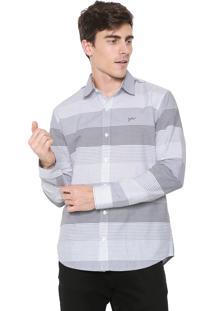 Camisa Yachtsman Reta Listras Cinza