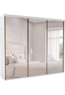 Guarda-Roupa Casal Com Espelho Luminum L 3 Pt 6 Gv Branco