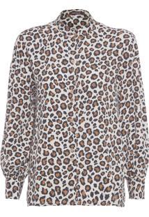 Camisa Feminina Tencel Onça - Animal Print