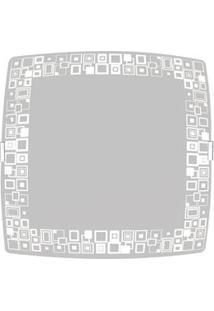 Plafon Sobrepor Attena Quadrado Pequeno 21Cm Mosaico Em Vidro – Branco